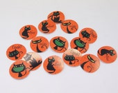 Halloween Black Cat Stickers Envelope Seals Journal Stickers Planner Stickers Calendar Stickers Reminder Stickers SES220