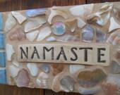 NAMASTE Mosaic Plaque