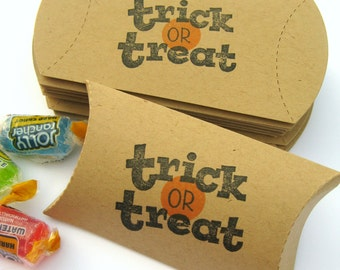 Halloween Treat Box, Trick or Treat Pillow Boxes, Treat Bags, Halloween, Pillow Box, Halloween Gift Box, Halloween Packaging, Trick or Treat
