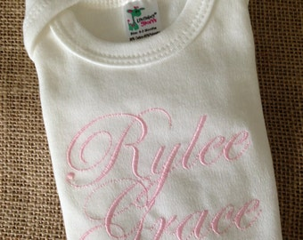 Personalized GIRL Onesie, name