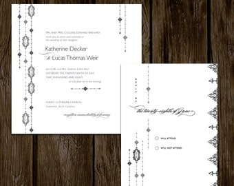 Classic + Simple Printable Wedding Invitation Set // HEIRLOOM