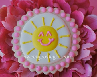 Sunshine Decorated Sugar Cookies