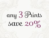 Custom Print Set - Choose Three Photographs and Save 20%, Home Decor, Large Wall Art