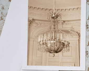 Photo Notecard - Chandelier at Grand Trianon, Versailles, Stationery, Blank Notecard