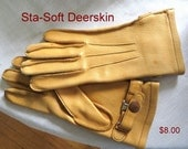 Estate Women's Deer Skin Cowgirl Gloves Driving, Ranch, Barn Gloves Equestrian Gloves