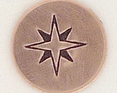 6mm Compass Rose Metal Design Stamp - Metal Jewelry Stamping Tool The Urban Beader