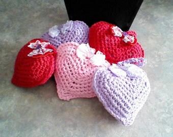Lavender sachet/valentine gift/heart sachet/valentine sachet/hemp sachet/crochet sachet