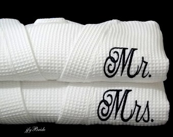 Cotton Anniversary Gift, Cotton Anniversary Gift for Him, Cotton Anniversary Gift Husband, Couples Anniversary Gift, Set of 2 Robes