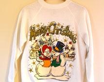 SALE Ugly Christmas Sweatshirt-  -Size Medium