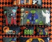 Set of 8 Primitive Halloween Trick or Treat Ornies Tucks Bowl Fillers Shelf Sitters Handmade Gift