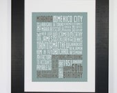 Birthday Typography Print Custom Subway Art Word Art 8x10
