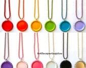 """30 pc 18"""" Mix Colors Ball Chain Bottle Cap Charm Necklaces * You Choose Colors *"""