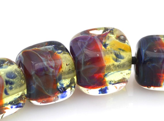 20 % Off Lampwork Boro Cube Glass Beads - Mystic Cubes (7)