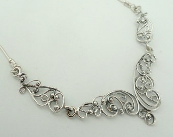 NEW COLLECTION Sterling Silver filigree necklace (s n2200