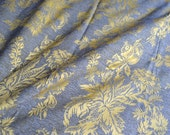 Vintage Fabric - Embroidered Jacobean Silk Upholstery - By the Yard