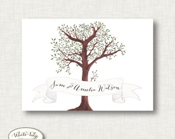 Printable Thank you notes - tree and banner
