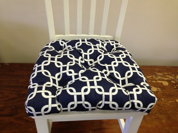 chair pads seat cushions bar stool cushions navy blue and white