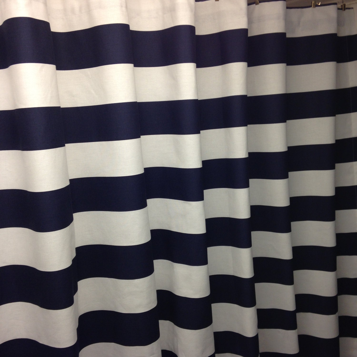 Black And White Striped Shower Curtain Viewing Gallery