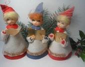 Vintage Christmas Three Darling Choir Members 1960s Mid Century