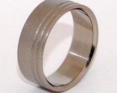 Titanium wedding ring, wedding ring, titaniun rings, mens ring, womens rings, eco-friendly - GLASS BLASTED DUET