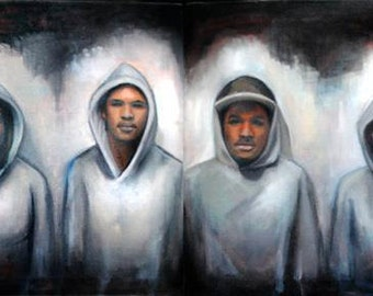 Bag of Skittles (Tribute to Trayvon Martin), Diptych, 2012, Oil on Canvas