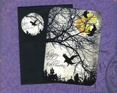 Halloween, Ravens, Crows, Halloween Cards, Stickers