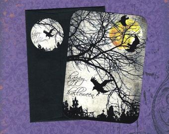 Halloween, Ravens, Crows, Halloween Cards, Stickers