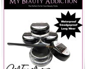 Gel Eyeliner 3 gram jar with Bent Liner Brush