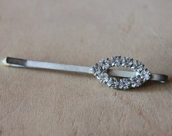 Art Deco Paste Rhinestone Hair Pin  / Gatsby Wedding Hair Accessories