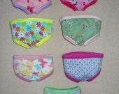 Waldorf Doll Girls Briefs ~CHOICE OF ONE~ Undies Underwear 10 inch Size Fit Bamboletta Little Buddy