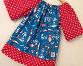 TOP - Dr. Seuss Cat in the Hat in Blue top -  available in size 12mo to size 8
