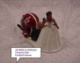 Alabama Football Wedding Cake Toppers