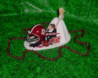 Alabama Crimson Tide College Football Grooms Fun Wedding Cake Topper-CF12-1