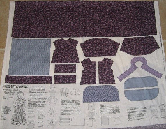 18 Inch Doll Clothes Fabric Panel To Fit Dolls Similar To