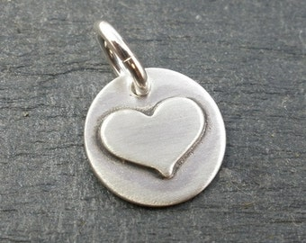 Small Soldered Sterling Silver Heart Charm
