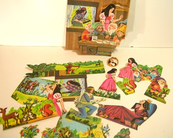 Snow White Storybook Paper Ephemera For Scrapbooking Or Collage