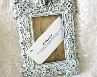 Antique French Frame Shabby White Perfect for Your Paris Apartment