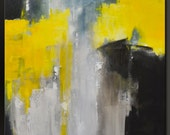 The Divide - 30 x 24 - Abstract Acrylic Painting - Contemporary Wall Art