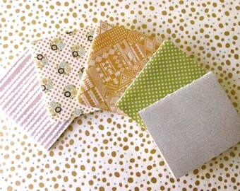 retro handmade journal notebooks blank ~  set of 5
