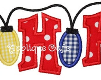 532 HoHoHo Lights Machine Embroidery Applique Design