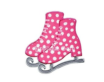 170 Ice Skates Machine Embroidery Applique Design