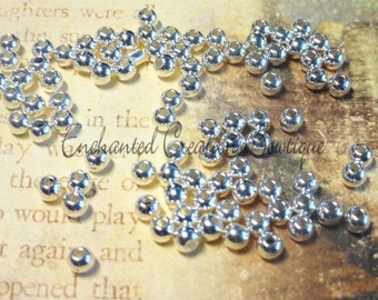 4mm Silver Spacer Bead qty 500