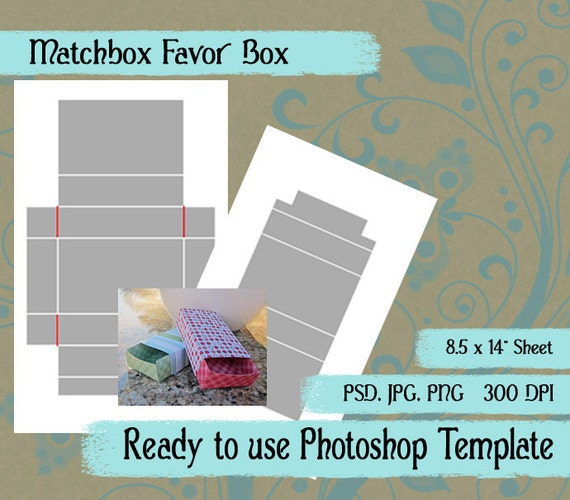 matchbox favor box photoshop template pattern to create your