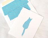 Chevron Cat Boxed Notes