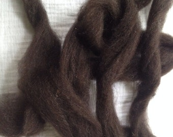 Coopworth Hoggett Wool Roving  - Alma Park Exclusive  - 2 oz - Bay Black - spin/felt