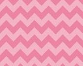 SALE- Medium Chevron Cotton- Tone on Tone PINK by Riley Blake- 1 yard