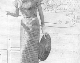 Lacy Dress Womans Knitting Pattern Book Top Cape Stole And More PDF Instant Download