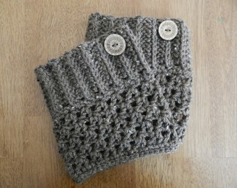 Crocheted Boot Cuffs/ Crochet Barley Boot Cuffs
