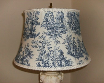 Blue and White Toile Lampshade