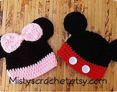 MOUSE Beanie Newborn-Adult